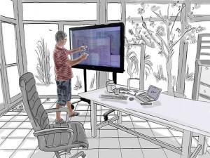 digitale Tafel - interactive Whiteboard - betriebsfertig integriert