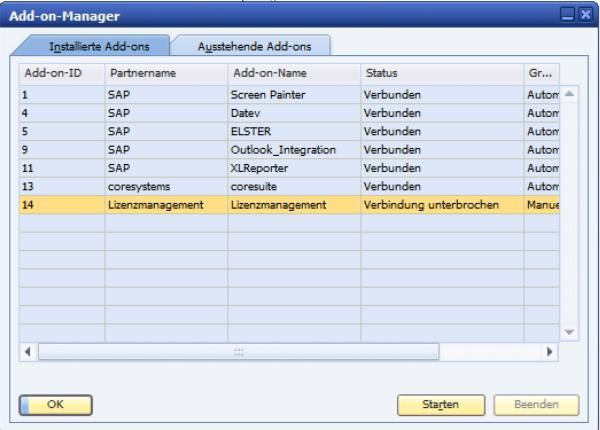 Lösung SAP Bussiness One Erweiterungen